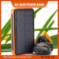 2015 new arrival LED power bank with solar panels 20000Mah /30000Mah