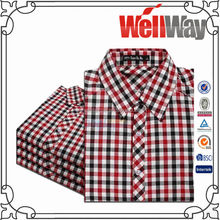 wholesale cheap latest new designer model branded long sleeve 100% cotton western slim fit fannel casual checks shirts for men