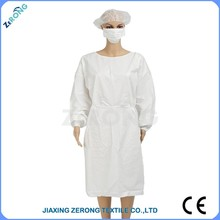 2015 hot sales!! SMS fabric Cheap Standard style#ZR-SG-2015-0002 of medical gown
