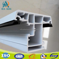 pvc doors&windows/plastic sliding window rail profile including steel reinforcement