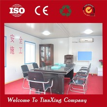safe and durable movable structural steel building with office inside
