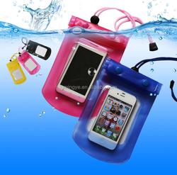 Universal mobile phone pvc waterproof bag for different phone models