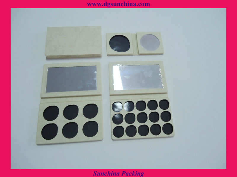 Simple Style Paper Eyeshadow Compact for Cosmetic Packaging