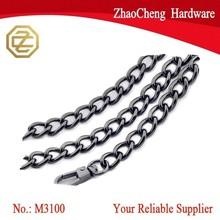 First cost metal key chain zinc handbag chain long bag chain for all kinds of bag