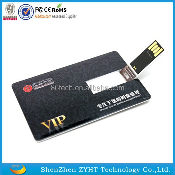 Plastic Usb Business Card With 2 0 Usb Flash Drives Credit