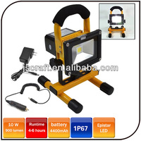 Warranty 2 year IP65 Epistar 10w 8.4V emergency camping light rechargeable led floodlight