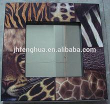buena calidad de espejo con marco de tigre la pintura de laca