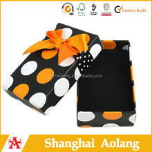 Fashion polka dot design for birthday gift pack, cute kids shoe boxes