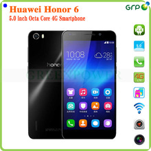 Fashion! Huawei Honor 6 5inch 441PPI Octa Core 1.3Ghz 3GB 16GB china mobile phone 4G AGPS Bluetooth Dual SiM slot in Spanish
