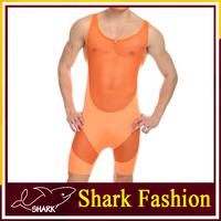 Shark Fashion men's singlet leotard spandex bodysuit jumpsuit sex underwear