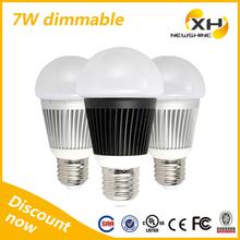 360 Degree High Lumen Warm White UL 7W LED Bulb Dimmable, E27 LED Bulb 7W