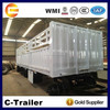 3 axles 30t loading capacity 3 axles detachable side wall full trailer for sale