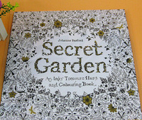 2015 New Arrive Hand-painted Coloring Book Secret Garden For Children And Adult,Hot Sale Secret Garden Book