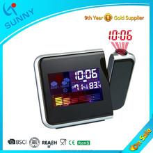 Sunny Hot Sale Colorful Digital Laser Projection Clock