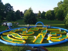 Crazy Inflatable golf games, golf course for kids