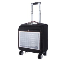 airport luggage case,Solar battery charging trolley case,Additional functionality pilot luggage bag