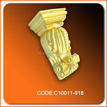 Pu corbel decoración material de poliuretano alta calidad decorativa europea venta