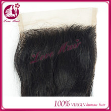 new lace closure product on qingdao china market hair cut shape for loose wave sample color black lace closure hair