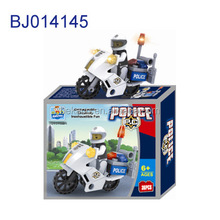 Funny kids toy intelligent diy toy 3D puzzle police motorcycle