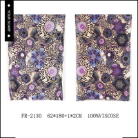 Hot sale mixed color 100% viscose 2015 fancy hijab scarf