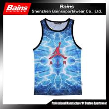 Full sublimation mesh basketball teams uniform&teams basketball cheap&sample basketball uniform design