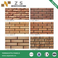 Outdoor House Wall used red clay bricks