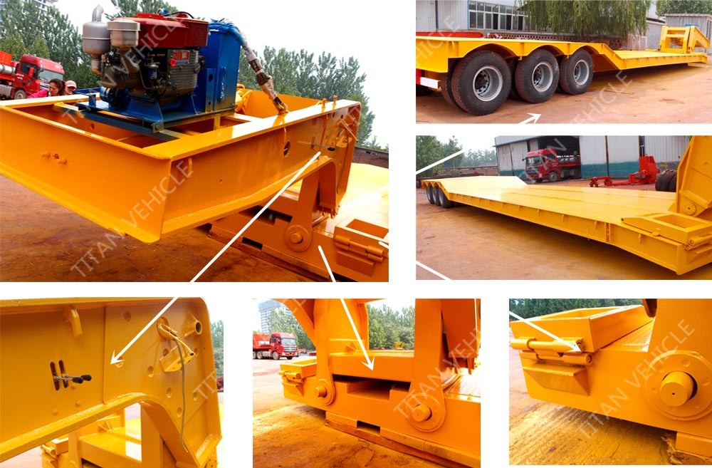 China TITAN 80-100 ton heavy equipment folding military