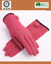 2015 Basic style ladies woolen gloves