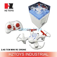 RC pocket sized toys 2.4G 4CH 7CM mini flycam nano drone gopro with display box.