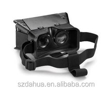 Foldable waterproof plastic version google cardboard virtual reality kit with NFC TAG