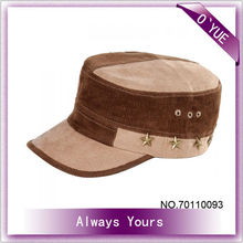 Retro Woolen With Five-pointed Star Men Military Hats