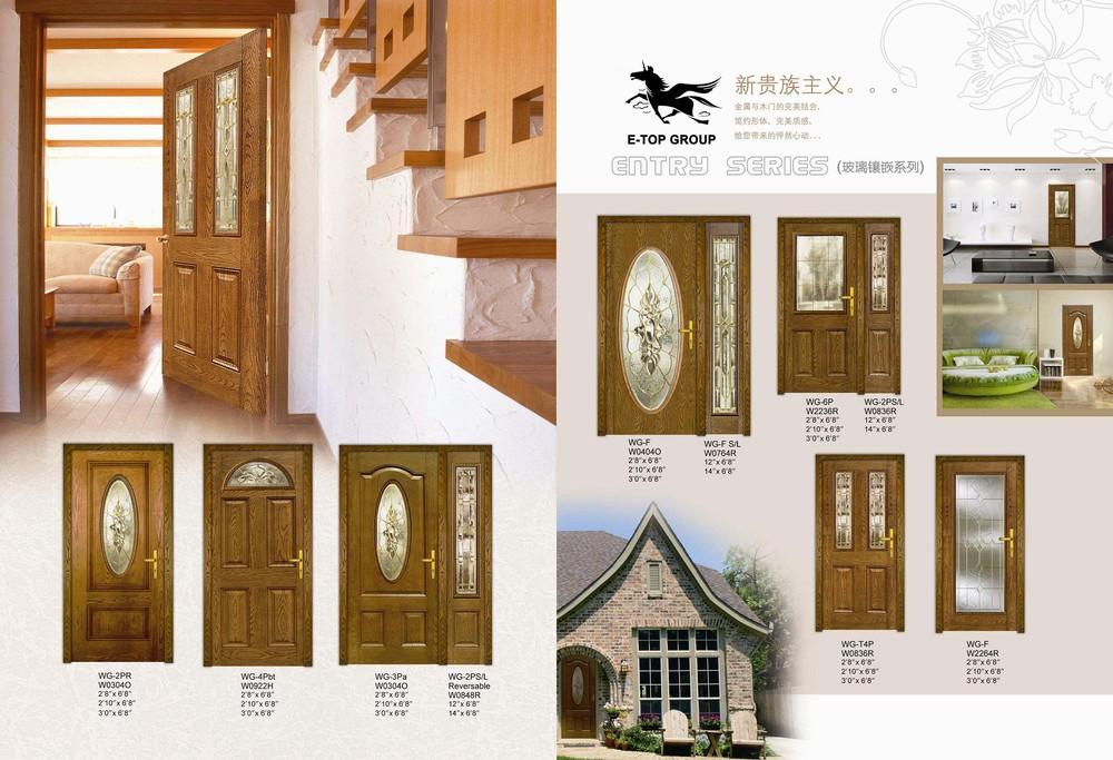 Luxury Design Usa And Canada Market Composite Front Doors Fiberglass Door B