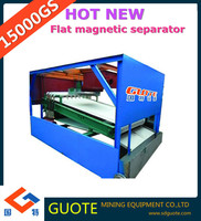 Alibaba china high intensity Series GTGB Wet 15000 Gauss high gradient plate magnetic separator for processing wet iron ore
