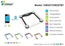 CW227 health meter scale digital no screws, compact structure/ Digital bathroom scale