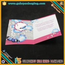 2015 súper ventas navidad tarjetas en inglés con 4/4 impresión por diseño profesional
