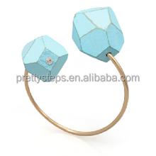 2014 Pretty Steps fashionable new design nrectangle shaped gold rectangle shaped gold ecklace