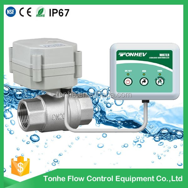 electric shut off valve for water leak control