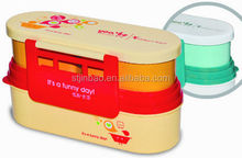 Plastic lunch box with lock,food container lunch box,BPA free foldable lunch box