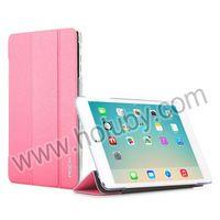 China Supplier Rock Tri-fold Flip Stand PU Leather Case for iPad mini 3 iPad mini 2