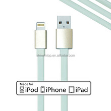 Cable making equipment MFI approved 8 pin charging and sync usb cable for iphone5s original phone