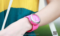 New fashion slap watch, high quality silicone snap watch, silicone smart watch for teenagers