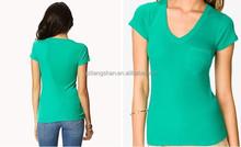 2015 fashion bulk v-neck t shirt