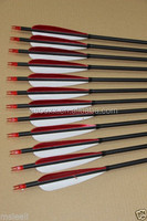 wholesale red white Hunting Carbon Arrow Arrowhead use for Recurve compound