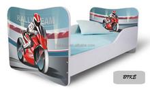Sports Racing Car Image Children Bedroom Furniture Baby Cots