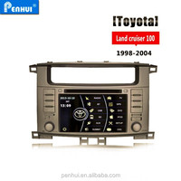 Car DVD player for Toyota Land cruiser 100 2004 Support Radio+PIP+BT+Visuc 8 Disc+Can BUS+Amplifer