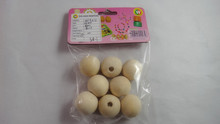 Natural Round Wooden Beads for wholesale for branded glass coaster holiday crafts