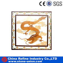 chinese dragon mosaic pattern,mosaic tile picture hotel&home floor,waterjet inlay