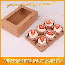 (BLF-PBO733)recycled paper cupcake box for kraft paper