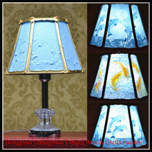 Office fish decoration handcraft fashion resin table lamp for gift