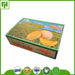 Factory custom logo CMYK Pantone colors printed cardboard box for fruit and vegetable
